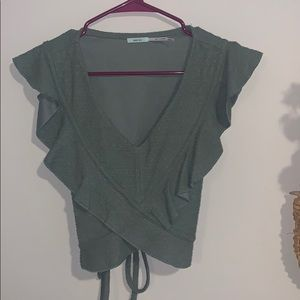 urban outfitters/ kimchi blue olive green crop